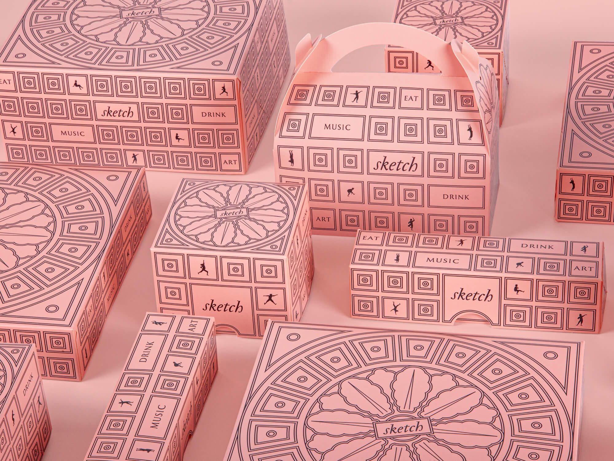take away design Pink boxes medley by Ich&Kar