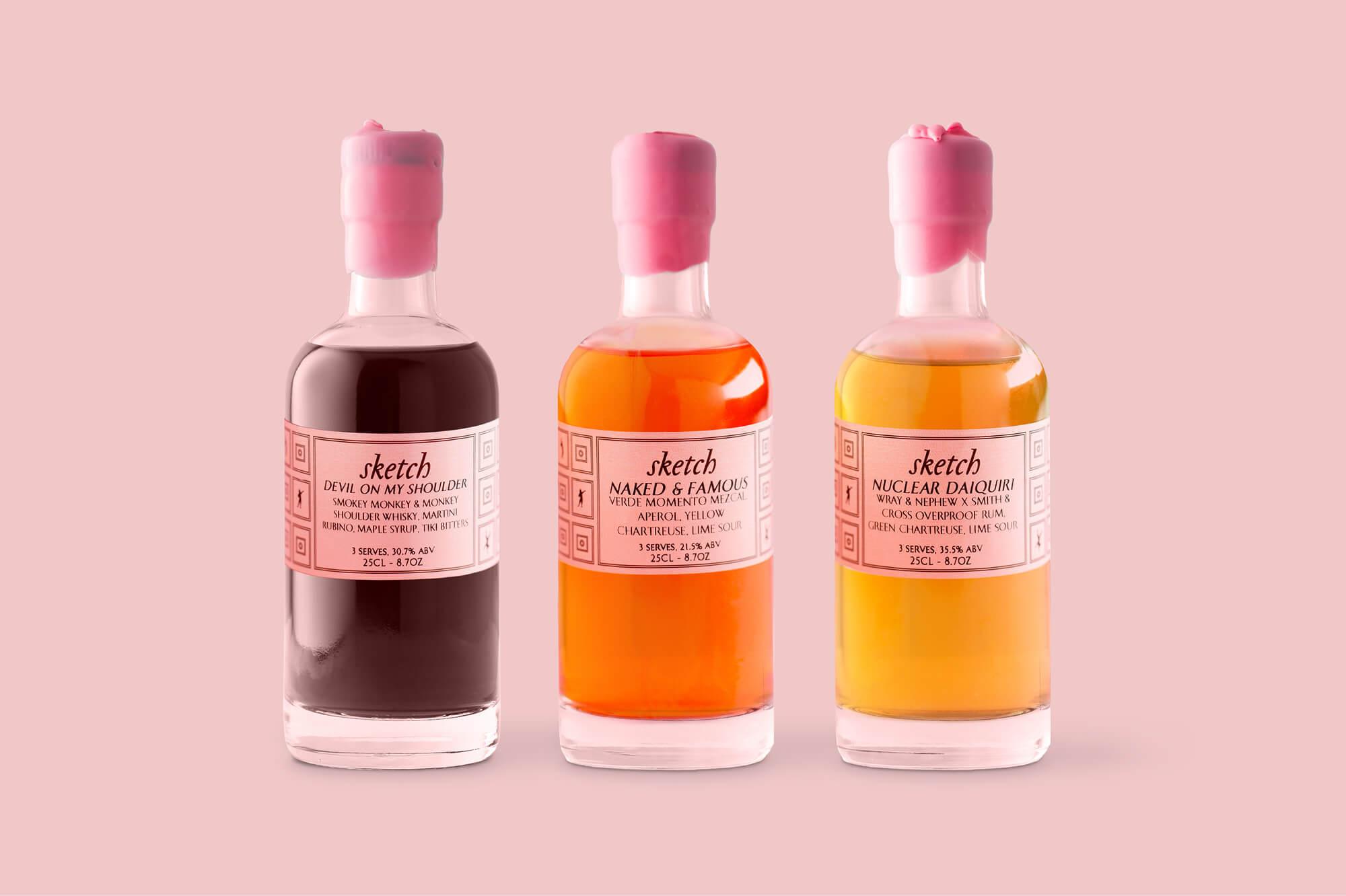 Sketch cocktail at home, toute la saveurs de la mixologie chez vous, design et branding IchetKar