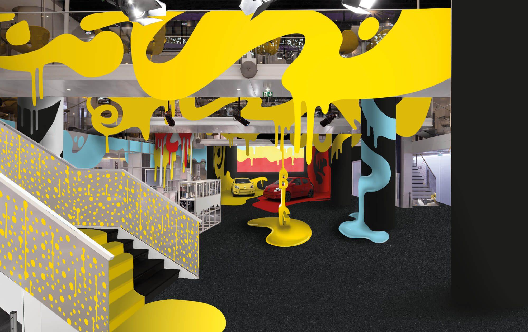 Installation Ich&Kar a l'atelier Renault