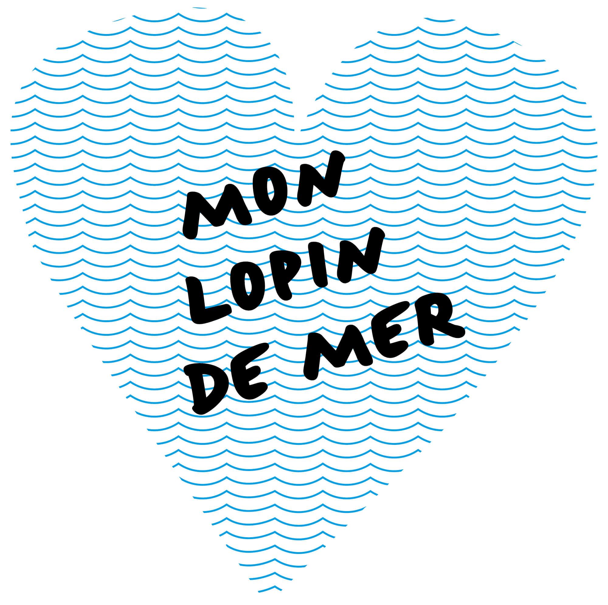 Logo de l'poperation mon lopin de mer, un coeur de vague design IchetKar
